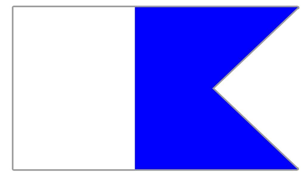 Flagge Alpha
